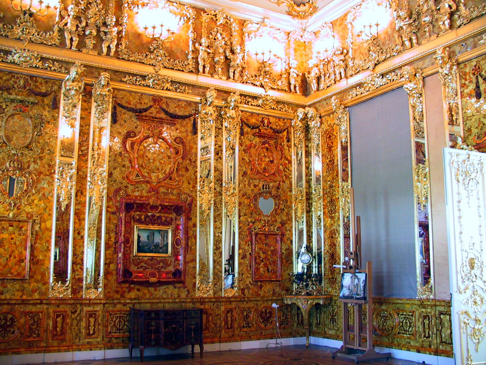 B5--05 Amber Roomof Catherine Palace, St. Petersburg, Russia